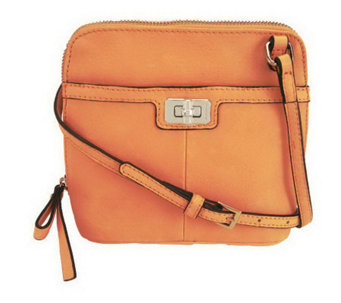 """As Is"" B. Makowsky Glove Leather Zip Around Mini Crossbody Bag - A236936"