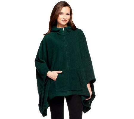 how to make a fleece poncho with a hood