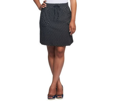 """As Is"" Susan Graver Printed French Terry Pull-on Skort"