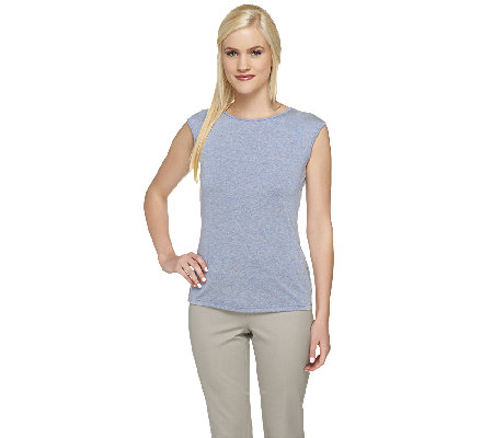 Linea by Louis Dell'Olio Cap Sleeve Knit Top
