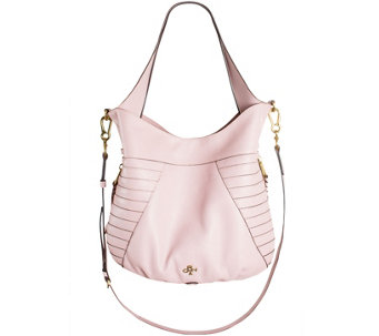 orYANY Pebble Leather Hobo with Shoulder Strap - Isabella - A274736