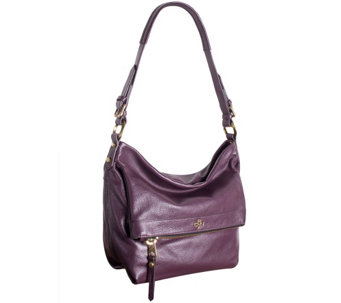 """As Is"" orYANY Pebble Leather Hobo Bag - Abbey - A279036"