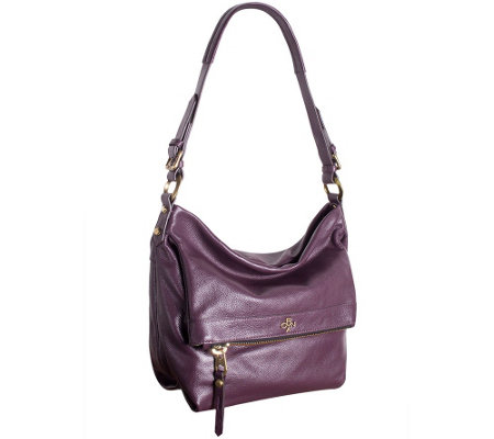 """As Is"" orYANY Pebble Leather Hobo Bag - Abbey"