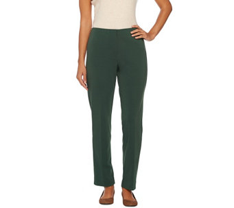 """As Is"" Susan Graver Milano Knit Hollywood Waist Zip Front Pants - A279136"