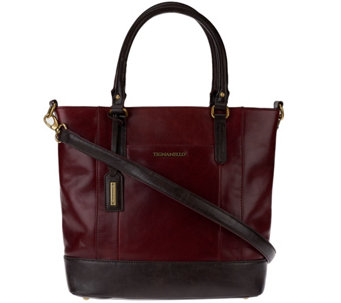 """As Is"" Tignanello Glazed Vintage Leather Shopper Bag - A280236"