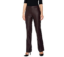 G.I.L.I. Faux Leather Petite Flared Pants - A280336