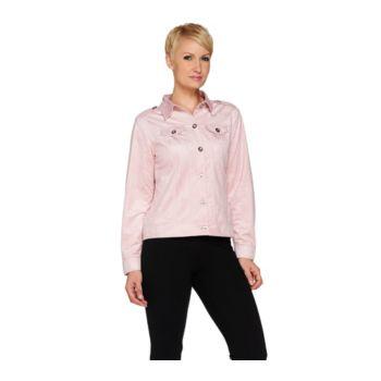 Joan Rivers Cropped Faux Suede Jacket