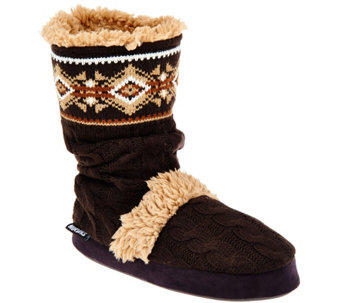 MUK LUKS Scrunch Bootie Slipper with Memory Foam Insole - A283136
