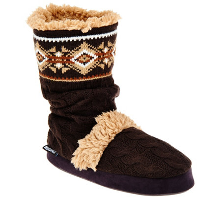 MUK LUKS Scrunch Bootie Slipper with Memory Foam Insole