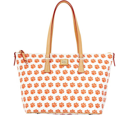 Dooney & Bourke NCAA Clemson University Zip Top Shopper