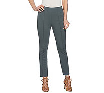 G.I.L.I Side Zip Ankle Ponte Pants - A286936