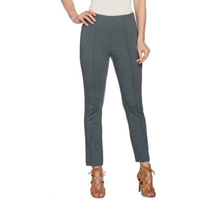 G.I.L.I Side Zip Ankle Ponte Pants