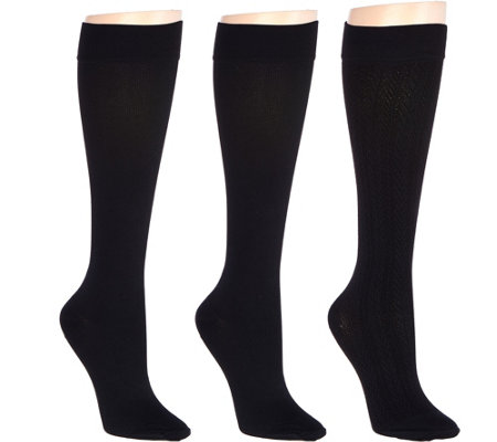 """As Is"" Legacy Graduated Compression Socks 3 Pack"