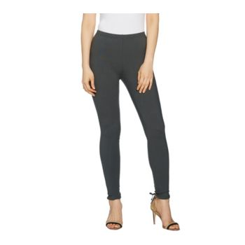 Women with Control Regular Pull-On Lace-Up Back Knit Leggings