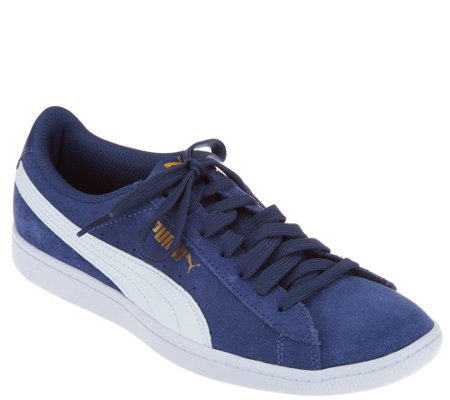 Puma Suede Lace Up Sneakers - Vicky Classic