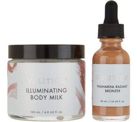 Volition Illuminating Body Milk & Radiant Liquid Bronzer
