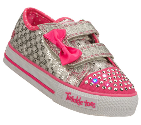 Skechers Girls Twinkle Toes Shuffles Sweet Steps Sneakers
