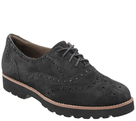 Earthies Lace-up Leather Oxfords - Santana