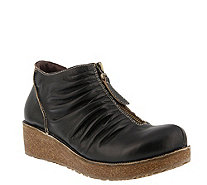 L'Artiste by Spring Step Leather Booties- Lifetime - A360136