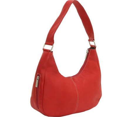 Le Donne Leather Side Zip Shoulder Bag — QVC.com