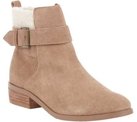 Sole Society Leather Ankle Boots - Austen