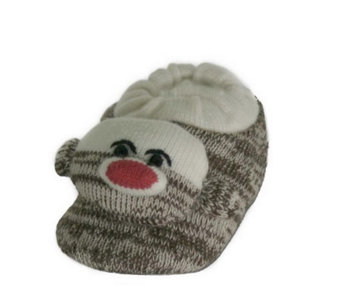 Children's Sock Monkey Slippers - A207037