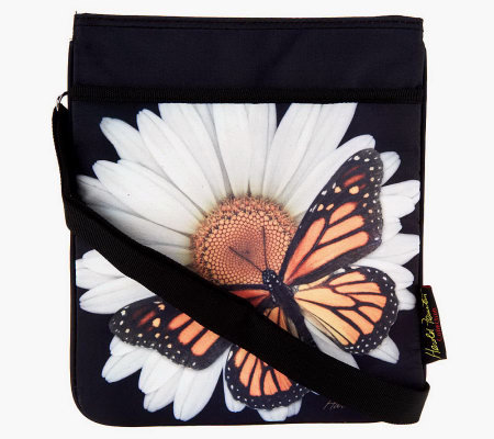 Harold Feinstein Printed Crossbody Bag With Organizer