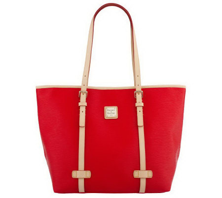 Dooney & Bourke Coated Cotton Cork Tote with Leather Trim