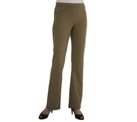 Women with Control Contrast Stitch Tall Pants with Faux Fly