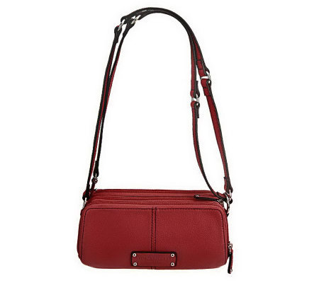 Tignanello Pebble Leather East/West Adjustable Crossbody