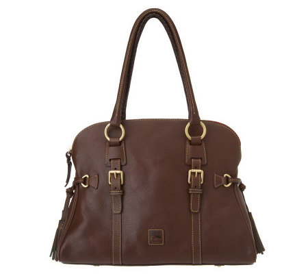 Dooney & Bourke Florentine Leather Domed Buckle Satchel