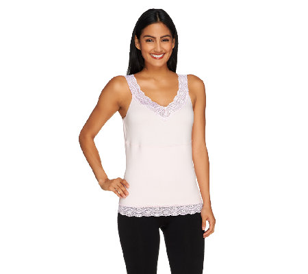 Carol Wior Reversible Lace Trim Cami with Midriff Control