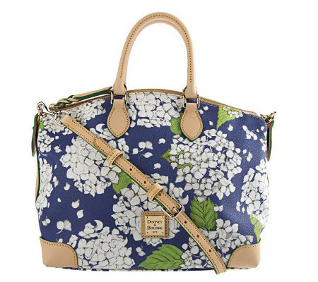 Dooney & Bourke Coated Cotton Hydrangea Print Satchel