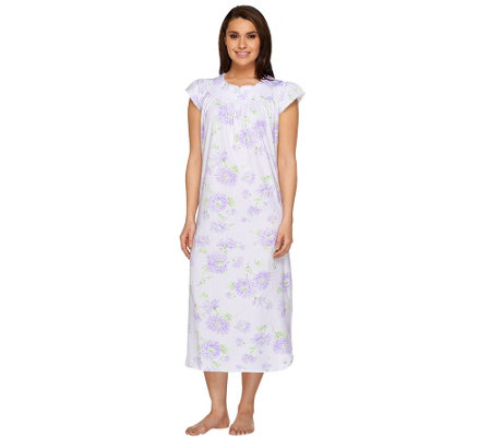 Carole Hochman Short Sleeve Floral Nightgown