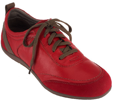 Vionic Orthotic Leather Walking Shoes - Willa