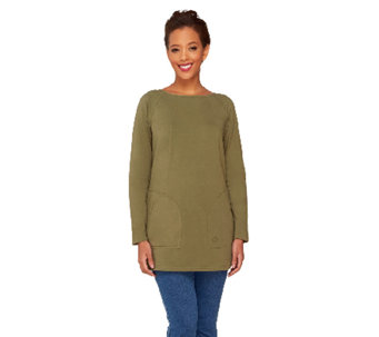 Linea Leisure by Louis Dell'Olio Raglan Sleeve Knit Tee - A262037