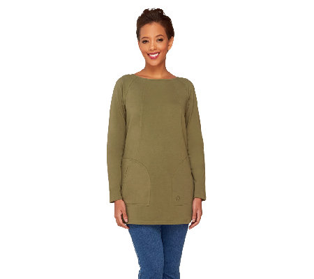 Linea Leisure by Louis Dell'Olio Raglan Sleeve Knit Tee