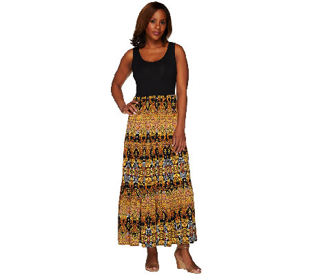 Women with Control Regular Printed Sleeveless Maxi Dress