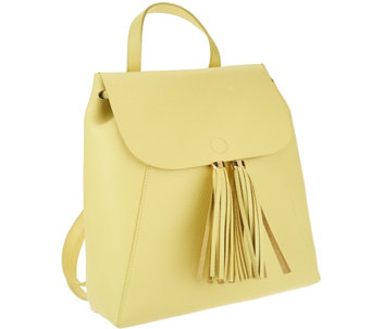 Isaac Mizrahi Live! Bridgehampton Leather Backpack - A264637
