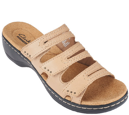 Clarks Slide Sandals With Three Adj. Straps - Hayla Rae