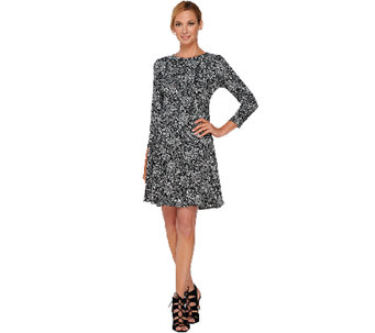 GK George Kotsiopoulos Bracelet Sleeve Dress with Peplum Hem - A267837