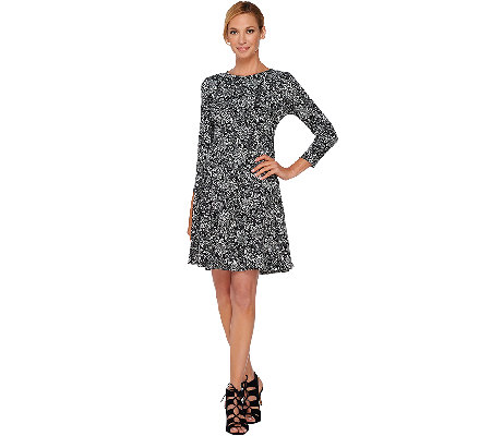 GK George Kotsiopoulos Bracelet Sleeve Dress with Peplum Hem