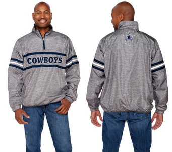 NFL Dallas Quarter Zip Lightweight Pullover - A268237