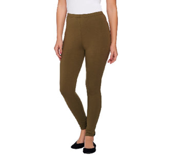 Women with Control Petite Pull-On Tushy Lifter Knit Leggings - A269637