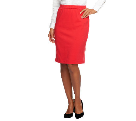 """As Is"" Joan Rivers Ponte Knit Pull-On Slim Skirt"
