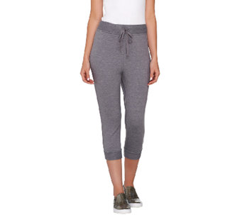 """As Is"" LOGO Lounge by Lori Goldstein Drawstring Crop Pants - A273237"