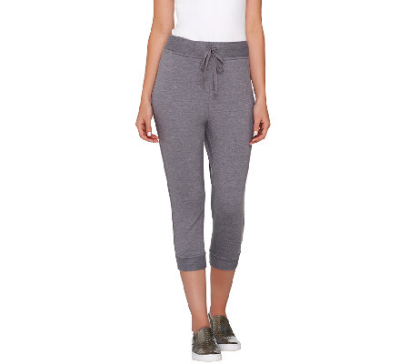 """As Is"" LOGO Lounge by Lori Goldstein Drawstring Crop Pants"