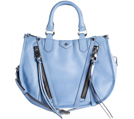orYANY Pebbled Leather Satchel - Cassandra