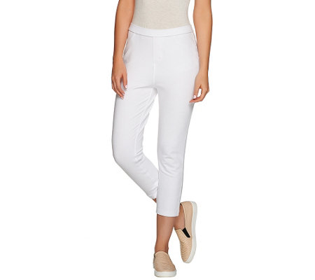 Susan Graver Weekend French Knit Capri Leggings