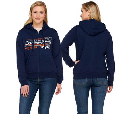 NFL Super Bowl 50 Champions Denver Broncos Zip Up Womens Hoodie